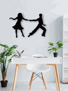 Dancing Couple Wall Art Laser Cut CDR File