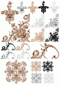 Decor Baroque Style Set Free CDR Vectors File