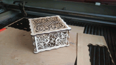 Decor Box Laser Cut 3D Puzzle CDR File
