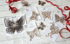 Decor Butterfly CNC Laser Free CDR File