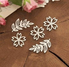 Decoration Flowers Laser Cut Free Vector CDR File
