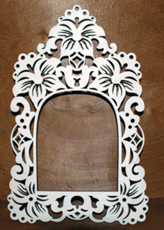 Decoration Mirror Frame Design DXF File