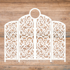 Decoration Screen Laser Cut Template Free CDR Vectors File