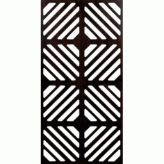 Decorative Box Shape Grille Panel DXF File