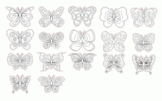 Decorative Butterfly Motif Panel CDR File