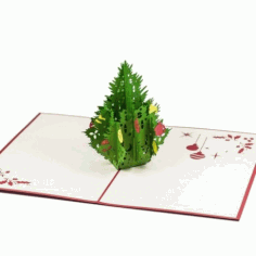 Decorative Christmas Tree Laser Cut Free Vector CDR File