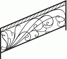 Decorative Deck and Porch Railing Laser Cut CDR File