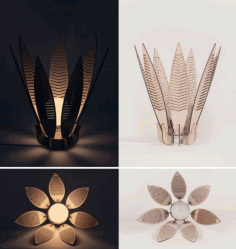 Decorative Flower Lamp Shade Laser Cut CDR File