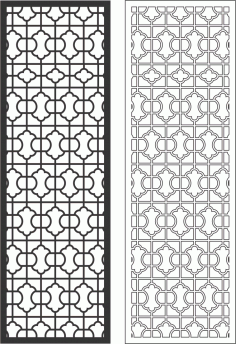 Decorative Grille Free Vector CDR File