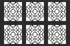 Decorative Grille Pattern Free CDR Vectors File