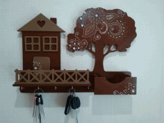 Decorative Key Holder for Wall Free CDR File