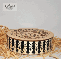 Decorative Round Jewelry Box Template Laser Cut CDR File