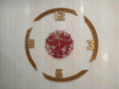 Decorative Round Wall Clock Template Laser Cut CDR File