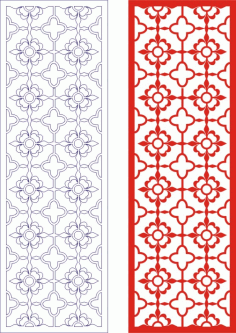 Decorative Seamless Panel Design 51 Laser Cut Free CDR File