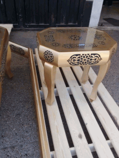 Decorative Table Laser Cut DXF File