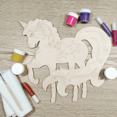 Decorative Unicorn Laser Cut Template Free CDR File