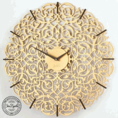 Decorative Wall Clock Template Laser Cut Free Vector CDR File