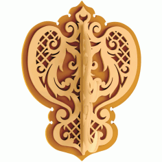 Decorative Wall Hanger Decorative Hooks Free DXF Vectors File