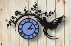 Decorative Wall Hanging Clock CNC Laser Cutting Free CDR File