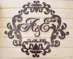 Decorative Wedding Invitations Souvenirs Laser Cut Free CDR File
