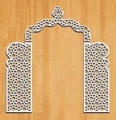 Decorative Wedding Panel Design Laser Cut CDR Vectors File