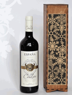Decorative Wine Bottle Packaging Gift Boxes Laser Cut CDR File