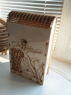 Decorative Wine Box 3mm Plywood Laser Cut CDR File