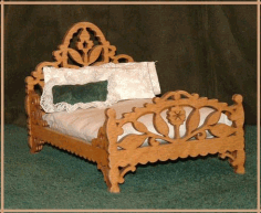 Decorative Wooden Bed Laser Cut CNC Router Plans CDR File