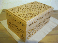 Decorative Wooden Box 6mm Laser Cut CDR File