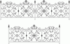 Decorative Wroughtiron Fence Or Railing Laser Cut CDR File