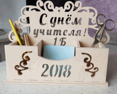 Desk Organizer 2018 Laser Cut Free CDR File