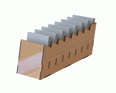 Desk Organizer for Notes Laser Cut DXF File