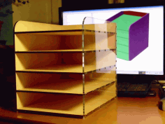 Desktop Filing Rack Laser Cut DXF File