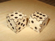 Dice 3D Puzzle Laser Cut Template CDR File