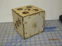 Dice Clock 5 Inch Laser Cut CDR File