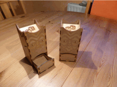Dice Tower 150×70 Laser Cut DXF File