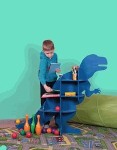 Dinosaur T Rex Shelf Furniture CNC Plans Laser Cut DXF File