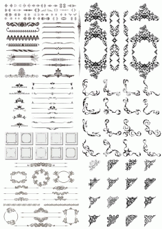 Dividers and Design Elements Free CDR Vectors File