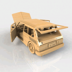 DIY 3D Puzzle Laser Cut Wooden Car Template CDR File