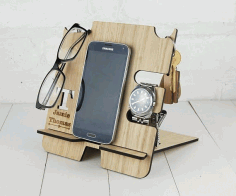 Docking Station Template Laser Cut Free CDR File