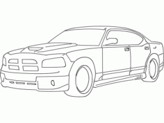 Dodge Charger Car DXF File