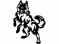 Dog Jumping 880×640 Free DXF Vectors File