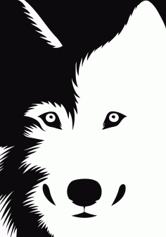 Dog Sticker Stencil Black And White Download Free Vector CDR File