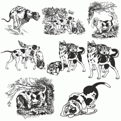 Dogs Vector Collection CDR File