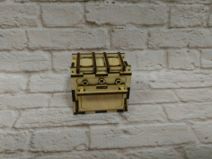 Dollhouse Kitchen Oven Stove Miniature Dollhouse Furniture 3mm Laser Cut CDR File