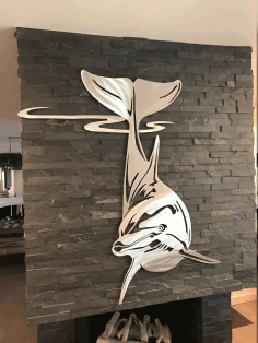 Dolphin Wall Decor Laser Cut CDR File