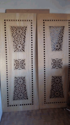 Door Design Laser Cutting CNC Vector DXF File
