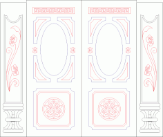 Door Panel Designs free CDR Vectors File