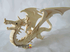 Dragon Template Laser Cut free CDR Vectors File