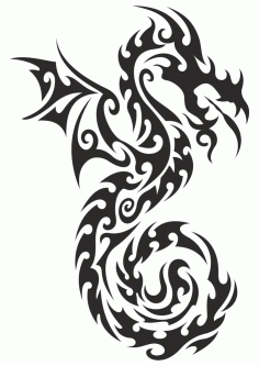 Dragon Totem Tattoo Sticker Vector Free CDR Vectors File